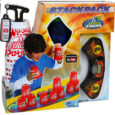 Speed Stacks: StackPack - White with Red Flames - New Items