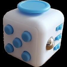 Original Anti Stress Fidget Cube - Blue & White - Geeky Gadgets