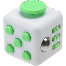 Original Anti Stress Fidget Cube - Green & White - New Items