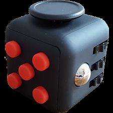 Original Anti Stress Fidget Cube - Red & Black - Games & Toys