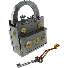 Crown Iron Puzzle Lock - Wire & Metal Puzzles