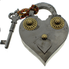 Heart Shape Iron Puzzle Lock - Puzzle Locks