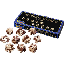 Wooden Puzzle Assortment - 10 Puzzles - Wood Puzzles