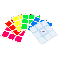 3x3x3 Super Full-Bright Sticker Set - Rubik's Cube & Others