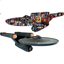 Star Trek - 2-sided Shaped Jigsaw Puzzle - Shaped