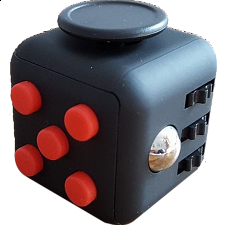 Anti Stress Fidget Cube - Red & Black - Geeky Gadgets