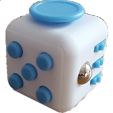 Anti Stress Fidget Cube - Blue & White - Geeky Gadgets