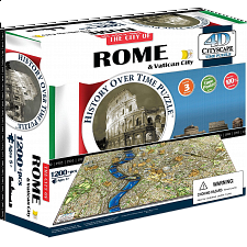 4D City Scape Time Puzzle - Rome - 1001 - 5000 Pieces
