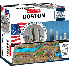 4D City Scape Time Puzzle - Boston - 1001 - 5000 Pieces