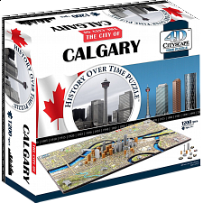 4D City Scape Time Puzzle - Calgary - 1001 - 5000 Pieces