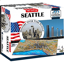 4D City Scape Time Puzzle - Seattle - 1001 - 5000 Pieces