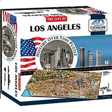 4D City Scape Time Puzzle - Los Angeles - 1001 - 5000 Pieces