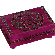 Floral Pattern Puzzle Box - Wooden Puzzle Boxes