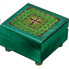 Green Celtic Puzzle Box - Wooden Puzzle Boxes