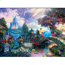 Thomas Kinkade: Disney - Cinderella Wishes Upon a Dream - 500-999 Pieces