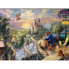 Thomas Kinkade: Disney - Beauty and the Beast Falling in Love - 500-999 Pieces