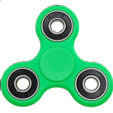 Hand Tri Spinner Anti-Stress Fidget Toy - Green - Geeky Gadgets