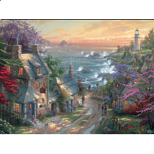 Thomas Kinkade - The Village Lighthouse - Thomas Kinkade