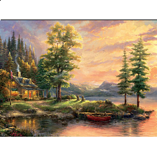 Thomas Kinkade - Morning Light Lake - Designers