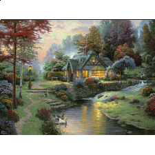 Thomas Kinkade - Stillwater Cottage - Designers
