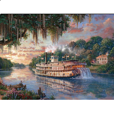 Thomas Kinkade: Special Edition - The River Queen - 500-999 Pieces