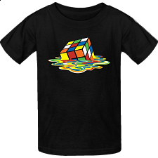 Melted Rubik's Cube - T-Shirt - Games & Toys