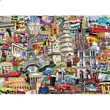 Collector Suitcase Jigsaw - Best of Europe - Collector Suitcase Series
