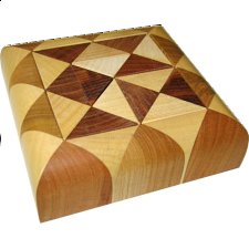 Cuboid 1 (oval tray) - European Wood Puzzles