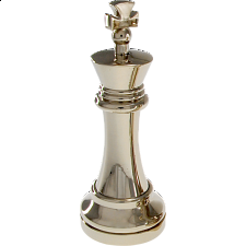 Silver Color Chess Piece - King - Hanayama Metal Puzzles