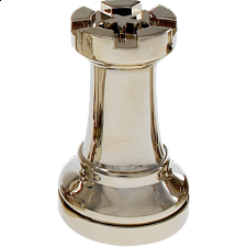 Silver Color Chess Piece - Rook -