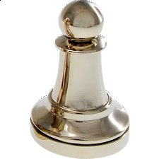 Silver Color Chess Piece - Pawn - Hanayama Metal Puzzles