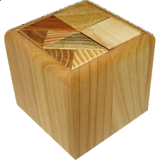 3/4 Cube (with box) - European Wood Puzzles