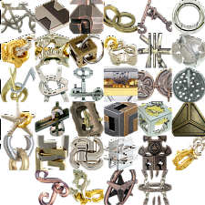 Levels 1-3: a set of 34 Hanayama Metal Puzzles - New Items