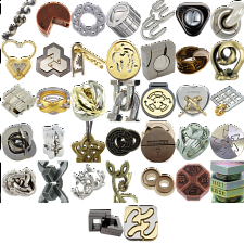 Levels 4-6: a set of 37 Hanayama Metal Puzzles - New Items