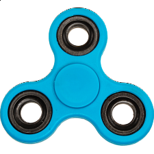 Hand Tri Spinner Anti-Stress Fidget Toy - Blue - Ceramic Inserts - Geeky Gadgets