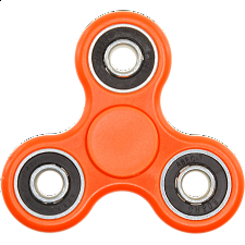 Hand Tri Spinner Anti-Stress Fidget Toy - Orange - Geeky Gadgets