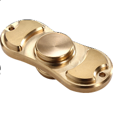 Metal Torqbar Spinner Anti-Stress Fidget Toy - Gold - Games & Toys