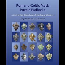 Romano-Celtic Mask Puzzle Padlocks - book -