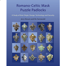Romano-Celtic Mask Puzzle Padlocks - Brain Teaser