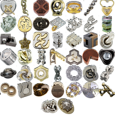 Levels 4-6: a set of 42 Hanayama Metal Puzzles -