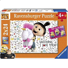 Despicable Me 3: Agnes and the Minions - 2 x 24 piece puzzles - New Items