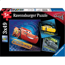 Cars 3 - 3 x 49 piece puzzles - New Items