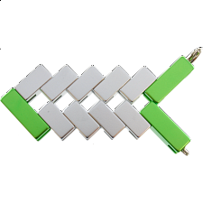 Mini Line Cube - Green - Other Wire / Metal Puzzles