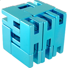 Line Cube - Blue - Other Wire / Metal Puzzles