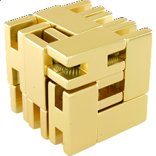 Line Cube - Gold - Other Wire / Metal Puzzles