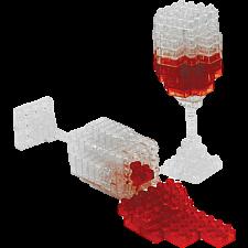 3D Pixel Puzzle - Wine -