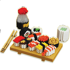 3D Pixel Puzzle - Sushi - New Items