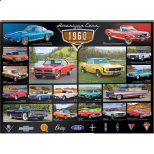 American Cars of the 1960's - 1000 Pieces