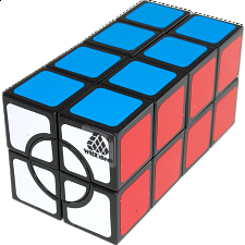 Super 2x2x4 Cuboid Cube - Black Body - Other Rotational Puzzles
