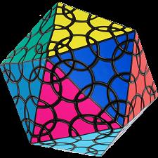 Clover Icosahedron D1 - Black Body -